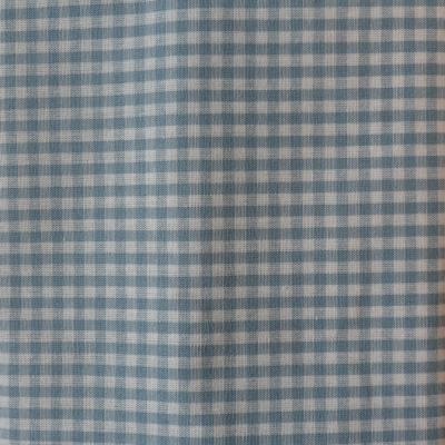 Vichy bleu ciel coupon 50 cm X 70 cm